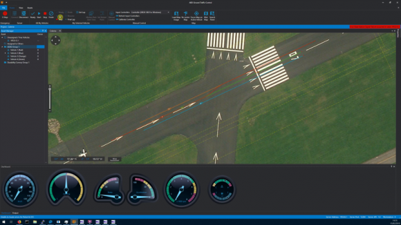 User Interface Controlling Multiple Moving Objects On Proving Ground